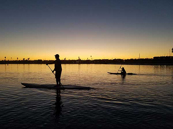 Sunset Paddle Aqua Adventures San Diego